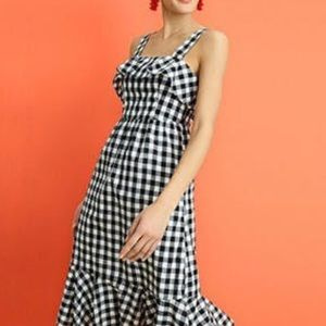 J. Crew Factory Midi Gingham Dress